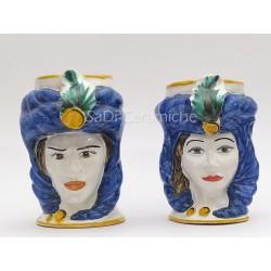 Teste di moro ceramica blu