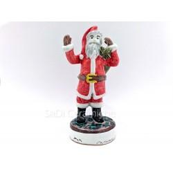 Babbo Natale in ceramica di Caltagirone